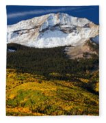 Foothills Of Gold Fleece Blanket