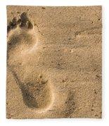 Footprint In The Sand Fleece Blanket