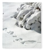 footprints in the Snow Fleece Blanket