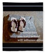Footprints Left Behind Fleece Blanket