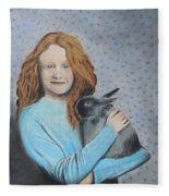 For The Love Of Bunny Fleece Blanket