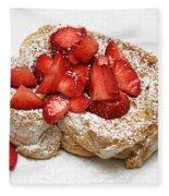 For The Love Of Strawberries Fleece Blanket