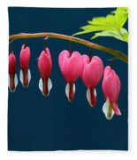 Bleeding Hearts For Your Love Fleece Blanket