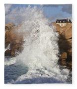 Force Of Breaking Waves Fleece Blanket