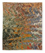 Forces Of Nature - Abstract Art Fleece Blanket