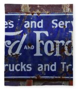 Ford And Fordson Sign Fleece Blanket
