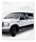 Ford Excursion Stretched Limousine Fleece Blanket