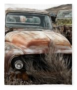 Ford Old Pickup Fleece Blanket