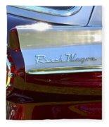 Ford Ranch Wagon Fleece Blanket