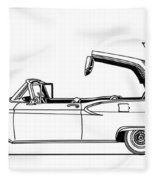 Retractable Ford Top Going Down Fleece Blanket