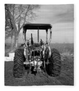 Ford Tractor Rear View Fleece Blanket
