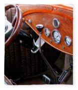 Ford V8 Dashboard Fleece Blanket