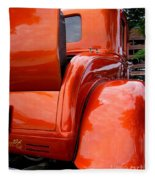 Ford V8 Rear View With Rumble Seat Fleece Blanket