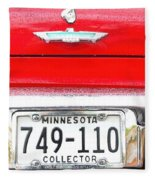 Ford With Minnesota Licence Plate Fleece Blanket