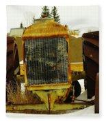 Fordson Tractor Plentywood Montana Fleece Blanket