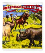 Forepaugh And Sells Wondrous Wild Beasts Fleece Blanket