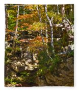 Forest Above The Cave Fleece Blanket