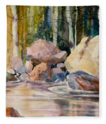 Forest And River Fleece Blanket