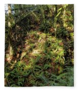 Forest Floor Fleece Blanket