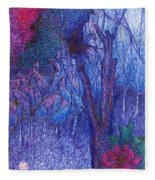 Forest Flower Fleece Blanket