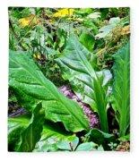 Forest Foliage Fleece Blanket