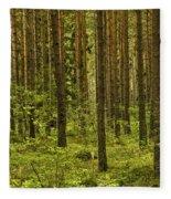 Forest For The Trees Fleece Blanket by Nancy De Flon