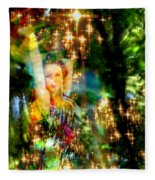 Forest Goddess 4 Fleece Blanket