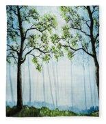 Forest Haze Fleece Blanket