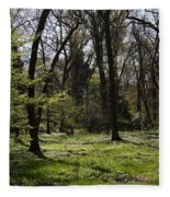 Forest In Spring Fleece Blanket