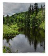 Forest Lake - Quebec - Canada Fleece Blanket