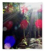 Forest Lightscape Fleece Blanket