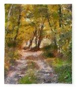 Forest Path Fleece Blanket