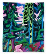 Forest Path In Summer Fleece Blanket