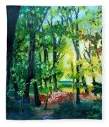 Forest Scene 1 Fleece Blanket