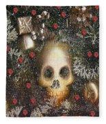 Forest Skull Pop Art Fleece Blanket
