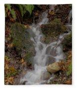 Forest Stream Cascade Fleece Blanket
