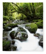Forest Stream Fleece Blanket