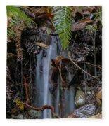 Forest Streamlet Fleece Blanket