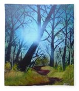 Forest Sunlight Fleece Blanket