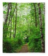 Forest Trail To Follow Fleece Blanket