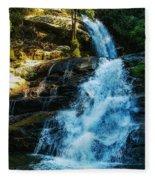 Forest Waterfall Fleece Blanket
