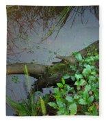 Forest Wetlands I Fleece Blanket
