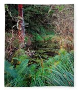 Forest Wetlands II Fleece Blanket