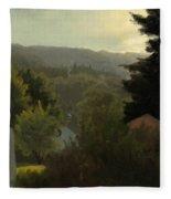 Forested Hills Fleece Blanket