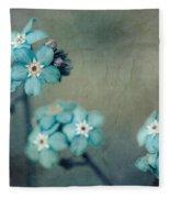 Forget Me Not 01 - S22dt06 Fleece Blanket