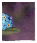 Forget Me Not 02 - S0304bt02b Fleece Blanket