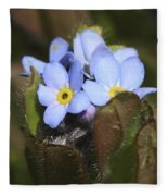 Forget Me Nots Springtime Fleece Blanket