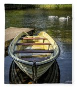 Forgotten Boat Fleece Blanket