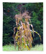 Forgotten Corn Stalks Fleece Blanket