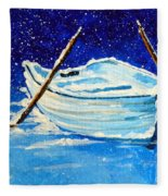 Forgotten Rowboat Fleece Blanket